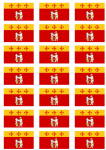 Warwickshire Old Flag Stickers - 21 per sheet